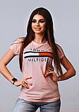 Жіноча стильна турецька футболка Ф21 в кольорах, фото 5