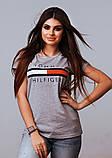 Жіноча стильна турецька футболка Ф21 в кольорах, фото 6