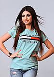 Жіноча стильна турецька футболка Ф21 в кольорах, фото 7