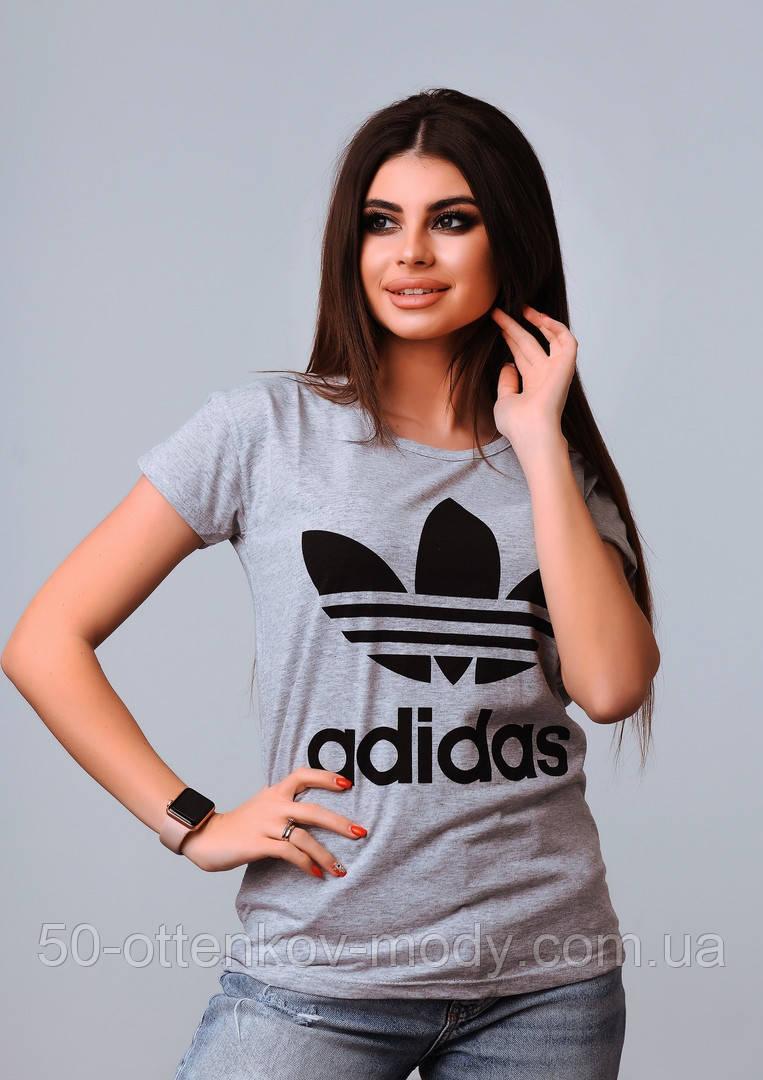 Женская стильная турецкая футболка Ф24 в расцветках