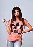 Женская стильная турецкая футболка Ф24 в расцветках, фото 2