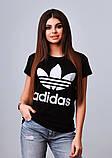 Женская стильная турецкая футболка Ф24 в расцветках, фото 3