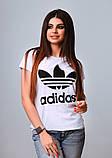Женская стильная турецкая футболка Ф24 в расцветках, фото 5