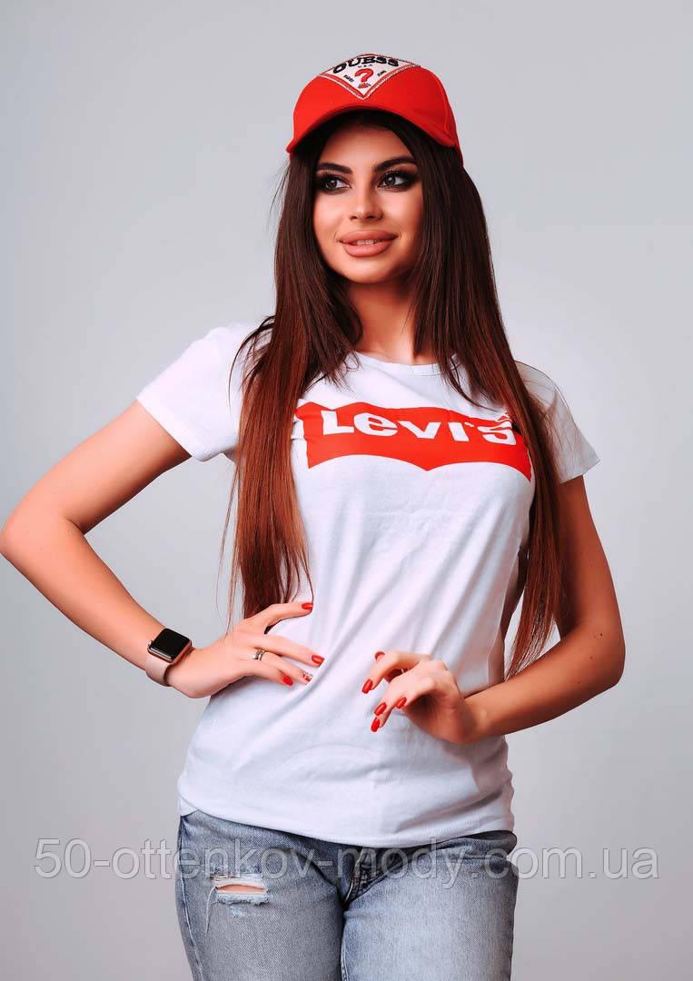 Женская стильная турецкая футболка Ф25 в расцветках