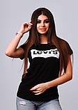 Женская стильная турецкая футболка Ф25 в расцветках, фото 2