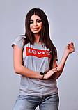 Женская стильная турецкая футболка Ф25 в расцветках, фото 3