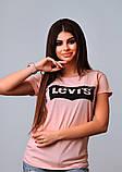 Женская стильная турецкая футболка Ф25 в расцветках, фото 4