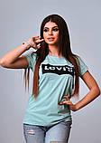 Женская стильная турецкая футболка Ф25 в расцветках, фото 6