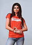 Женская стильная турецкая футболка Ф25 в расцветках, фото 7