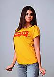 Женская стильная турецкая футболка Ф25 в расцветках, фото 8