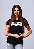 Женская стильная турецкая футболка Ф25 в расцветках, фото 9