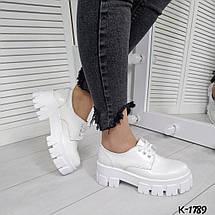 Женские туфли белые натуральная лаковая кожа, фото 3