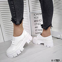 Женские туфли белые натуральная лаковая кожа, фото 2