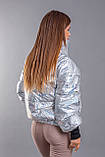 """Стильная женская куртка на холлофайбере демисезон 2231 """"Hologram"""", фото 8"""