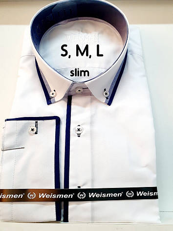 Сорочка біла Weismen, фото 2
