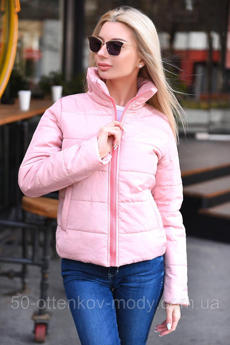 """Жіноча стильна куртка демисезон 9276 """"Канада Стійка"""" в кольорах"""