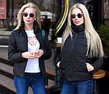 """Жіноча стильна куртка демисезон 9276 """"Канада Стійка"""" в кольорах, фото 2"""