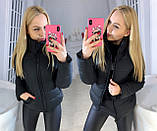 """Жіноча стильна куртка демисезон 9276 """"Канада Стійка"""" в кольорах, фото 5"""