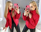 """Жіноча стильна куртка демисезон 9276 """"Канада Стійка"""" в кольорах, фото 6"""