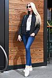 """Жіноча стильна куртка демисезон 9276 """"Канада Стійка"""" в кольорах, фото 8"""
