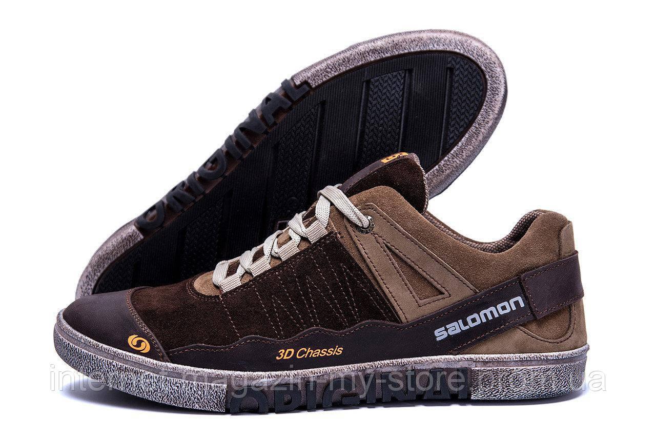 Мужские  кожаные кроссовки Salomon ( реплика)
