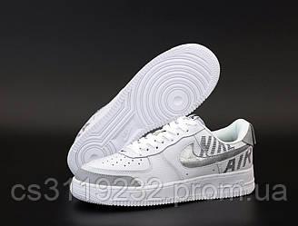 Мужские кроссовки Nike Air Force '07 LV8 white grey (белые)