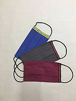Защитная  маска  взрослая/подростковая  многоразовая двухслойная тканевая код 0183