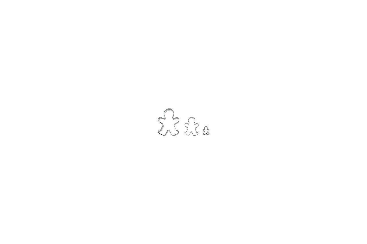 Набор форм для печенья Empire - человек (3 шт.)
