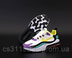 Женские кроссовки Nike Air Max 270 React (белый/бирюзовый/сиреневый)