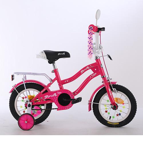 Детский велосипед колеса 14 дюймов PROFI Star XD1492 малиновый