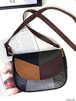 Сумочка цветная женская кожаная сумка через плечо натуральная кожа кросс-боди разноцветная. Цена опт.