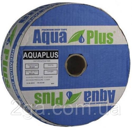 "Крапельна стрічка ""AquaPlus"" 1000 м, відстань крапельниць 10 см, 8mil - Україна"