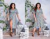 Яркое  платье с цветочным принтом   (48-58)