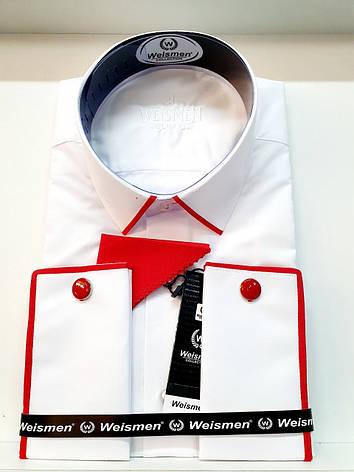 Однотонная белая  рубашка Weismen, фото 2
