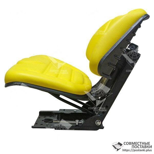 Сиденье желтое John Deere кресло с регулировкой веса водителя (Турция)