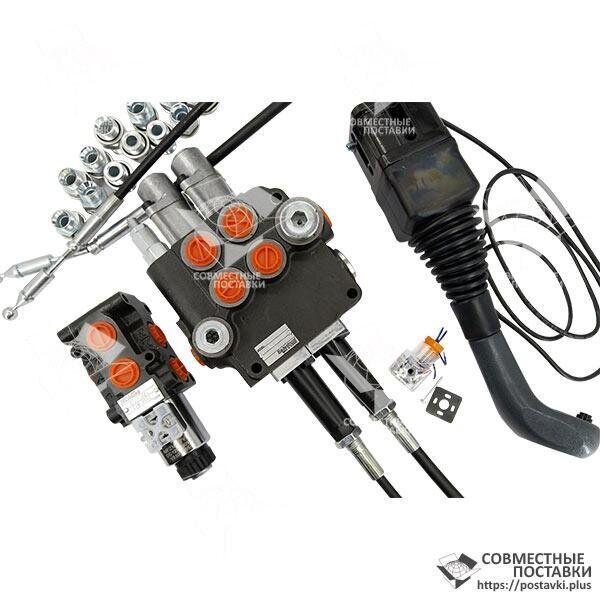 Комплект переоборудования Р80 на болгарские распределители Бадещность (2Р80 + клапан 50л + джойстик + тросы)