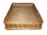 Лотки плетеные (30*40*8) короба, корзины торговые