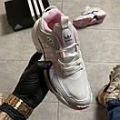 Женские кроссовки Adidas Magmur Runner White Pink / Адидас Магмур Белые Розовые, фото 2