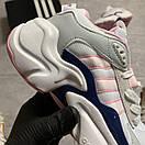 Женские кроссовки Adidas Magmur Runner White Pink / Адидас Магмур Белые Розовые, фото 6