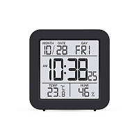 Цифровой комнатный термометр гигрометр термогигрометр электронный бытовой Т-15 черный на батарейках