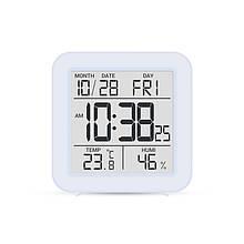 Цифровой комнатный термометр гигрометр термогигрометр электронный с подсветкой экрана Т-15 голубой