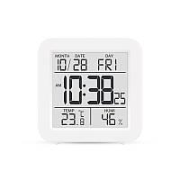 Цифровой комнатный термометр гигрометр термогигрометр электронный с подсветкой экрана Т-15 белый