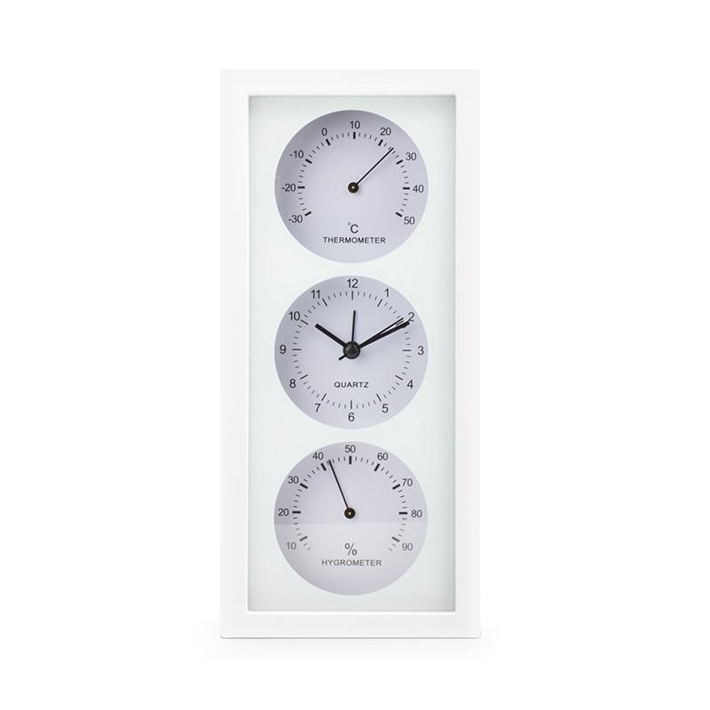 Термогигрометр с часами термометр гигрометр комнатный бытовой стрелочный настенный часы + батарейка