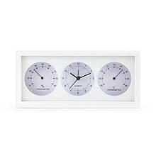 Термогигрометр с часами термометр гигрометр комнатный бытовой стрелочный настольный часы + батарейка