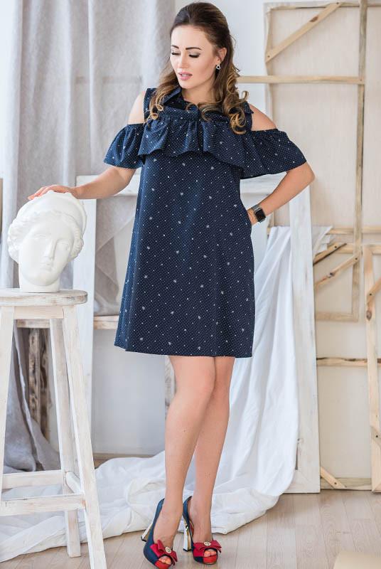 """Платье  """"Камила"""" темно-синее"""