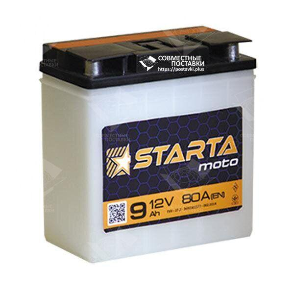 Аккумулятор для мотоциклов Starta Moto 6мтс9 С 80 А с круглыми клеммами | EN70 (Европа)