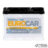 Аккумулятор EUROCar 62 А.3.Г. Japan (B0) со стандартными клеммами | L, EN600 (Азия)