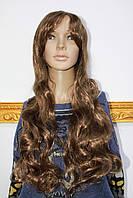 Парик из искусственных волос длинные вьющиеся волосы русые