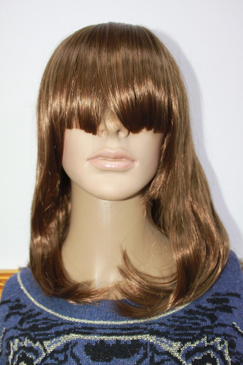Прокат перуки з штучного волосся середньої довжини світло русявий