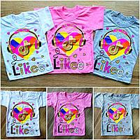 Детская футболка из кулира  LIKEE&TikTok, фото 1